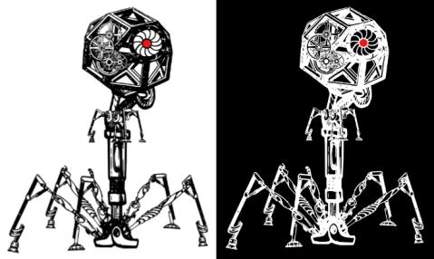 steampunk phage original and negative