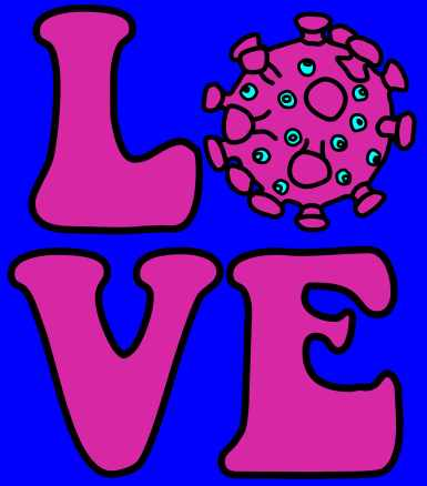 LOVE VIRUS with background