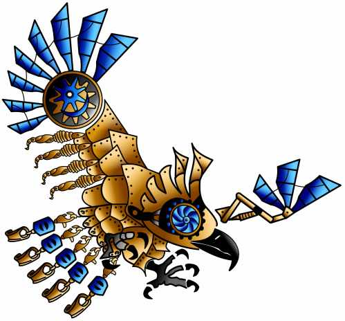 steampunk eagle 3D