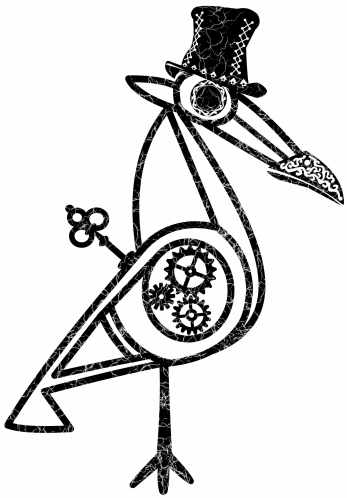 Taino bird portrait 6