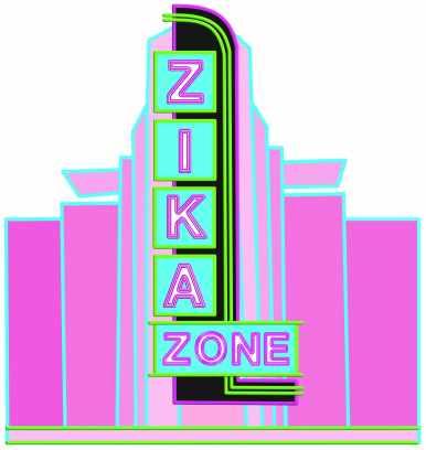 Zika Zone Art Deco with background
